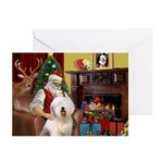 Santa's Old English #6 Greeting Cards (Pk of 10)