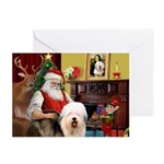 Santa's Old English #5 Greeting Cards (Pk of 10)