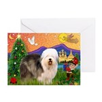 XmasFantasy/Old English 5 Greeting Cards(Pk of 10)