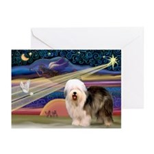 XmasStar/Old English #5 Greeting Cards (Pk of 10)