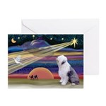 XmasStar/Old English 1 Greeting Cards (Pk of 10)