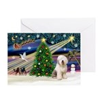 XmasMagic/Old English #6 Greeting Card
