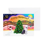 XmasMusic2/Old English 1 Greeting Cards (Pk of 10)