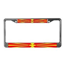 Macedonia Macedonian Flag License Plate Frame
