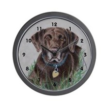 Nip, Chocolate Labrador Wall Clock