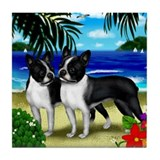 BOSTON TERRIER Dogs Beach Tile Coaster