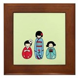 Kokeshi Framed Tile