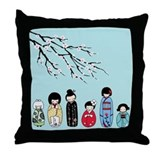 Kokeshi Throw Pillow