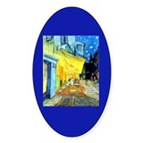 Van Gogh Cafe Terrace At Night Oval Decal