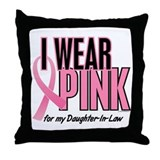 I Wear Pink For My Daughter-In-Law 10 Throw Pillow