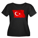 Turkish Flag (Ankara) Women's Plus Size Scoop Neck