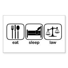 Eat Sleep Law Rectangle Decal