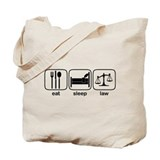 Eat Sleep Law Tote Bag