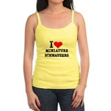 I Heart Miniature Schnauzers Ladies Top