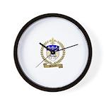BELLIVEAU Family Crest Wall Clock