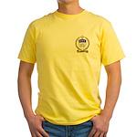 BELLIVEAU Family Crest Yellow T-Shirt