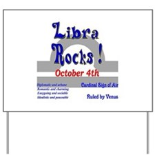Libra October 4th Yard Sign