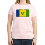 St Vincent & Grenadine Women's Pink T-Shirt