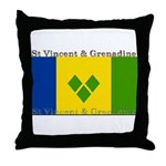 St Vincent & Grenadine Throw Pillow