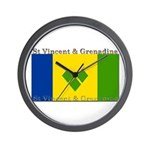 St Vincent & Grenadine Wall Clock