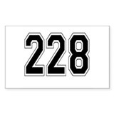228 Rectangle Decal
