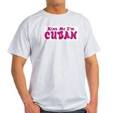 Kiss Me I'm Cuban Ash Grey T-Shirt