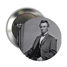"""Pres Abraham Lincoln 2.25"""" Button (100 pack)"""