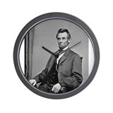 Pres Abraham Lincoln Wall Clock