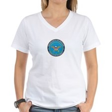 DEFENSE-DEPARTMENT-SEAL Womens V-Neck T-Shirt