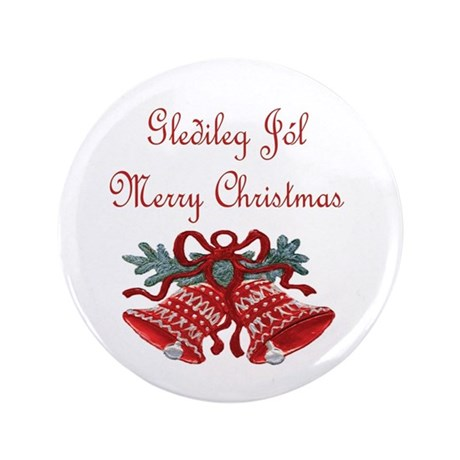 "Iceland Christmas 3.5"" Button (100 pack)"