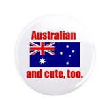 "Cute Australian 3.5"" Button"