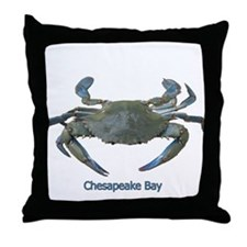 Chesapeake Bay Blue Crab Throw Pillow