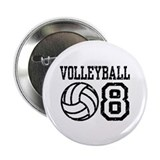 "Volleyball 08 2.25"" Button"