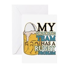Rugby Drinking Team Greeting Cards (Pk of 20)