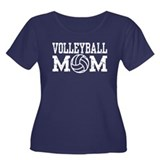 Volleyball Mom Women's Plus Size Scoop Neck Dark T