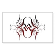 Aquarius Red 1 Rectangle Decal