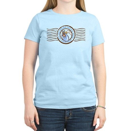 Precious Contents Stamp Blue Women's Light T-Shirt