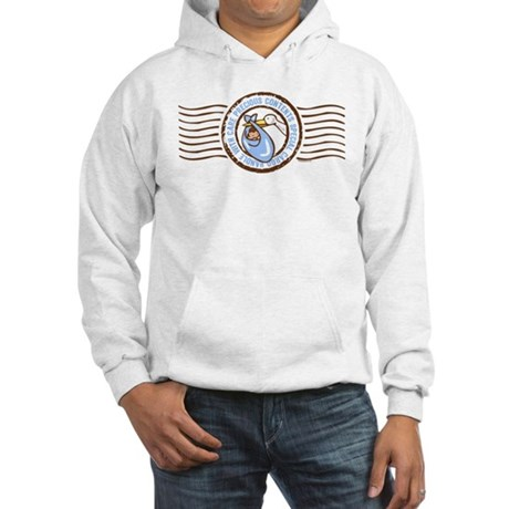 Precious Contents Stamp Blue Hooded Sweatshirt
