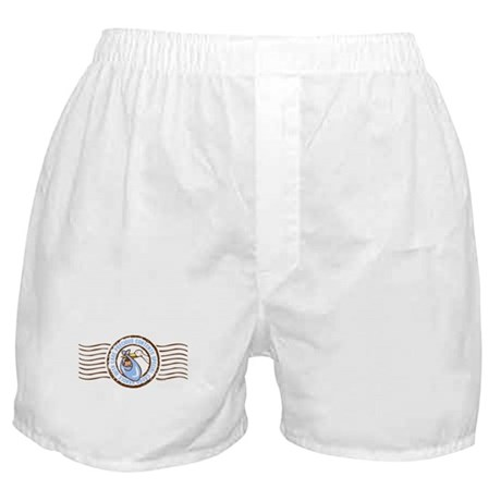Precious Contents Stamp Blue Boxer Shorts