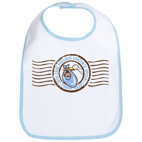 Precious Contents Stamp Blue Bib