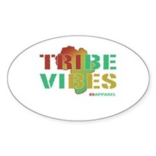 Tribe Vibes Retro Hip Hop Oval Decal
