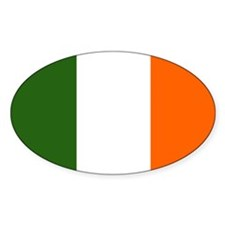 Flag of Ireland Oval Sticker (10 pk)