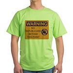 No Republicans Green T-Shirt