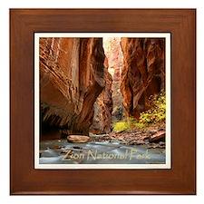 Cute Zion national park Framed Tile