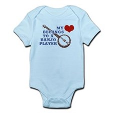 My Heart Belongs to a Banjo Player Infant Bodysuit