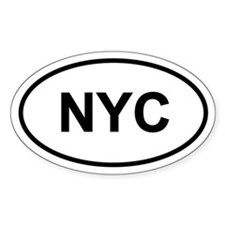 NYC Oval Stickers