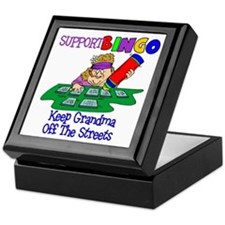 Support Bingo Funny Keepsake Box