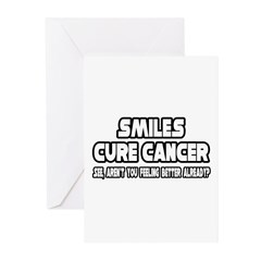 """Smiles Cure Cancer..."" Greeting Cards (Pk of 20)"