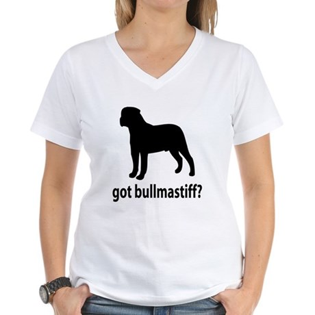 Got Bullmastiff? Women's V-Neck T-Shirt