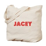 Retro Jacey (Red) Tote Bag